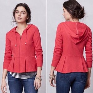 Anthropologie Saturday Sunday peplum hoodie Sz S